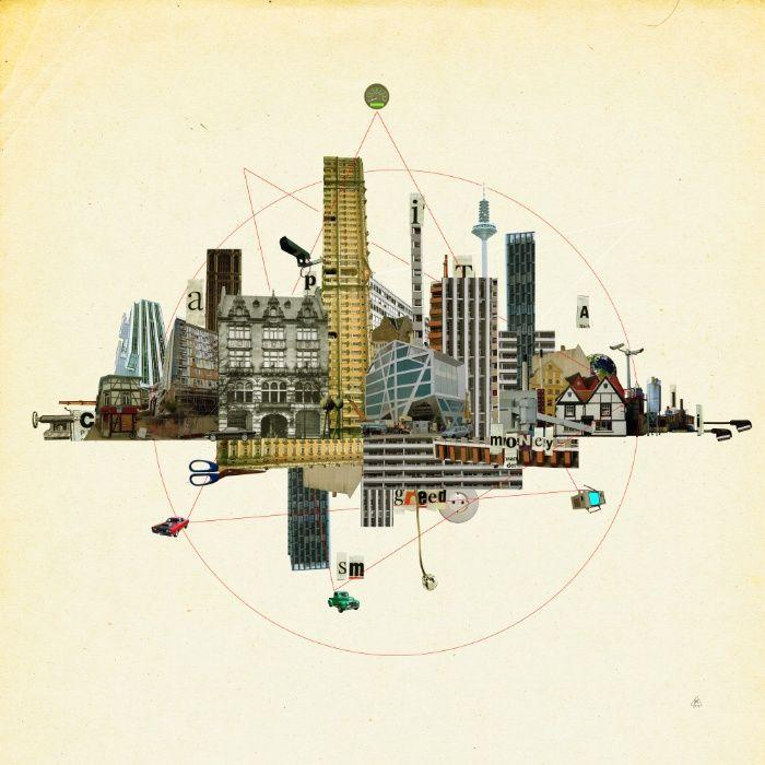 Collage City Mix 8 Art Print by Marko Köppe