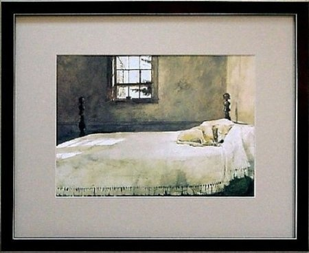 Dog On Bed Painting Wyeth