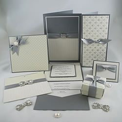 Ideas for making your own elegant wedding stationery with spots and stripes.  DIY wedding invitations
