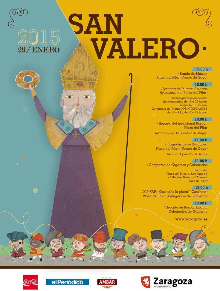 15 best Carteles San Valero images on Pinterest   Santos, Zaragoza ...
