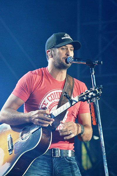 Luke Bryan performs at Gillette Stadium on Aug. 10, 2014, in Foxboro, Mass.