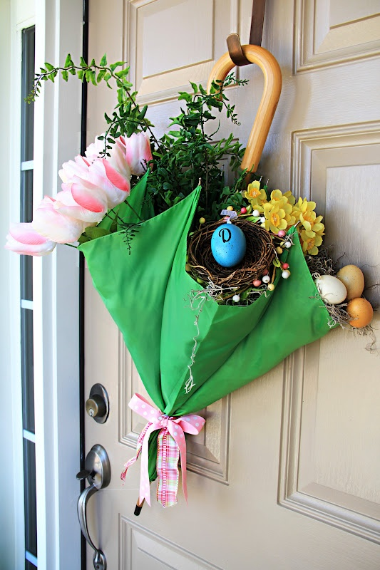 Spring door decor (1) From: Our Unexpected Journey