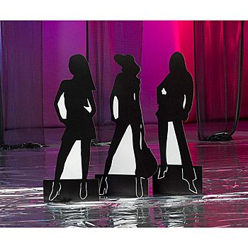 Diva Party Decorations | Diva Silhouette Standees Set/3 - Party Supplies