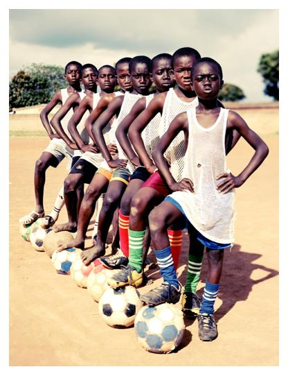 African Soccer Team.  They could probably beat any other team in the world, given the chance.