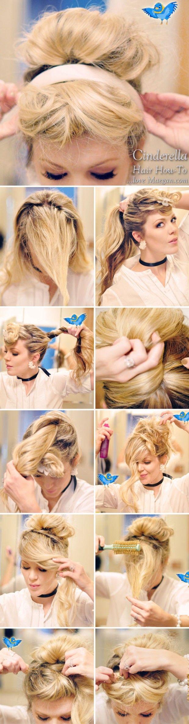 How-to Cinderella Hair & Makeup {Photo Tutorial} | ...love Maegan