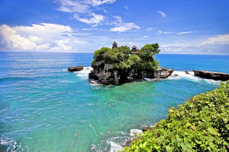 The Tanah Lot temple, in Bali.