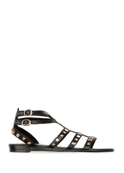 MANGO - Studded leather sandals