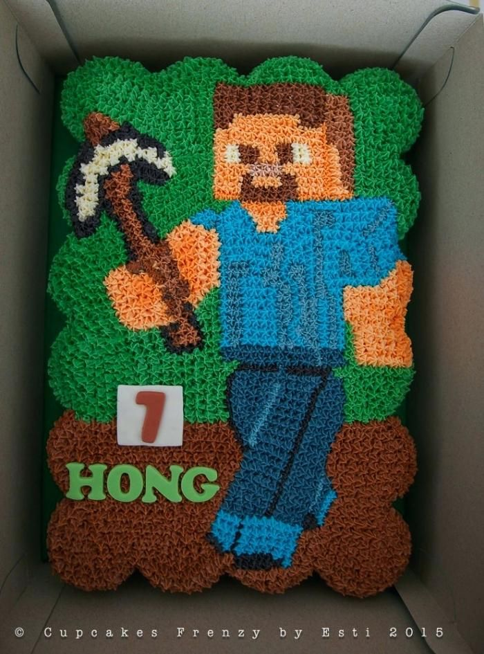 Minecraft Steve Birthday Cake As Well As Happy Birthday To Create