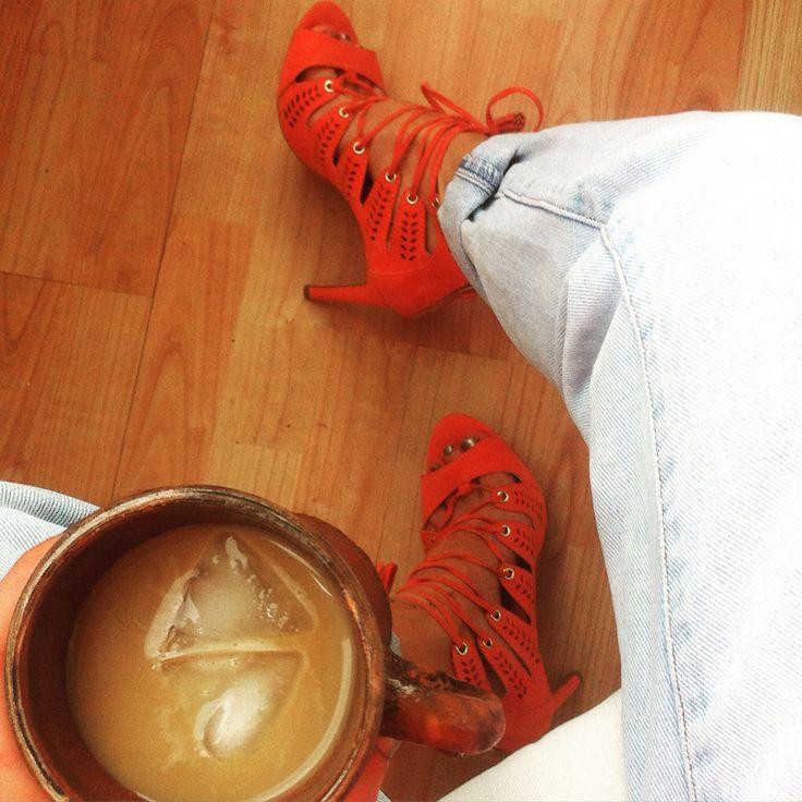 Coffee&high heels #fwis #ootd