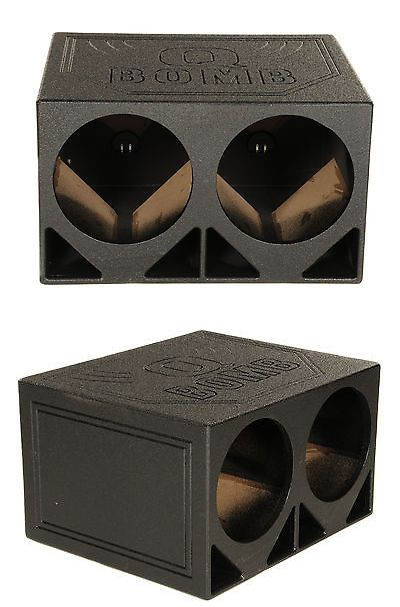Speaker Sub Enclosures: New Q Power Qbomb12tb Dual 12 Triangle Ported Car Audio Subwoofer Box Enclosure -> BUY IT NOW ONLY: $99.99 on eBay!