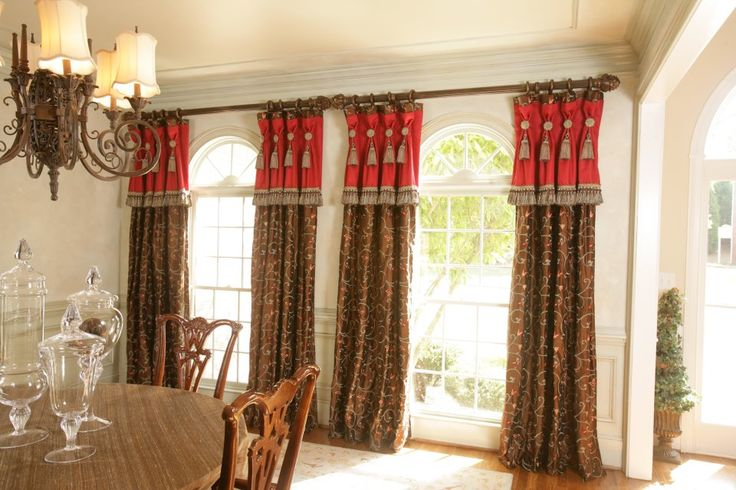 Window treatments for dinning room yahoo image search for International decor window treatments