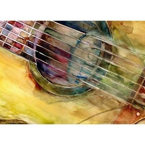 Rifkin - ACEO - Ovation Guitar Print from Watercolors  #Realism
