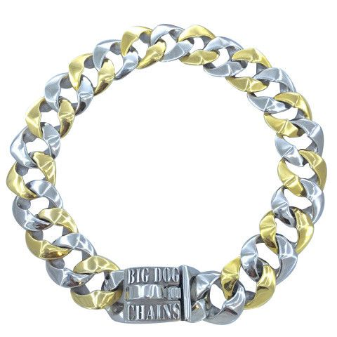 """The Capone Stainless Steel Dog Collar. 1.25"""" wide (32mm) made in Canada of 316L stainless steel. Guaranteed for life."""