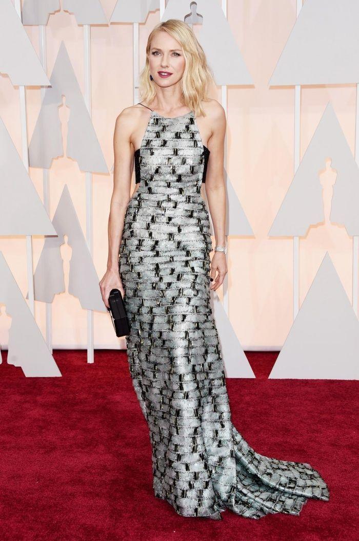 Naomi Watts in Armani at the 2015 Oscars