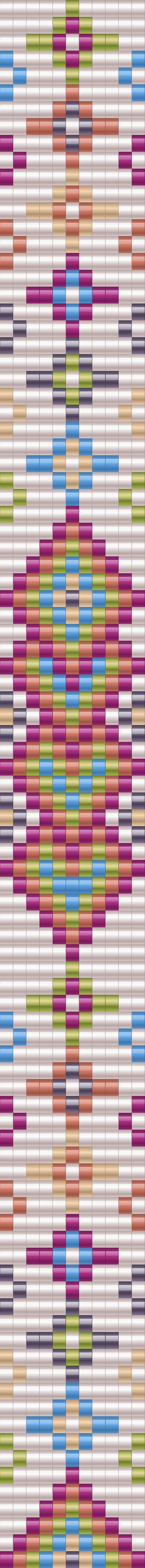 Broken Arrows Bracelet pattern for bead loom
