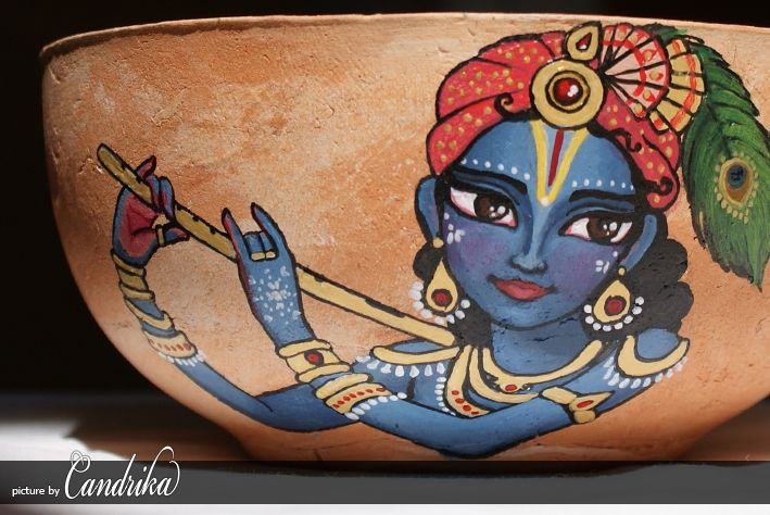 On Saturday (2nd June 2012) took place the 1st Panihati Festival in New Santipur, Poland. My friend Ramesvar prabhu had created pots and my task was to paint them.