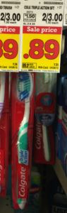 Kroger: $0.39 Colgate Triple Action Toothbrushes with sale and coupon! - http://www.couponaholic.net/2015/04/kroger-0-39-colgate-triple-action-toothbrushes-with-sale-and-coupon/