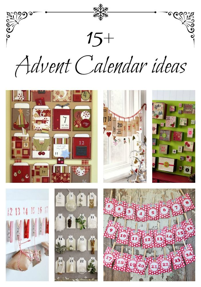 Advent Calendar Ideas - get started now for a wonderful holiday season!