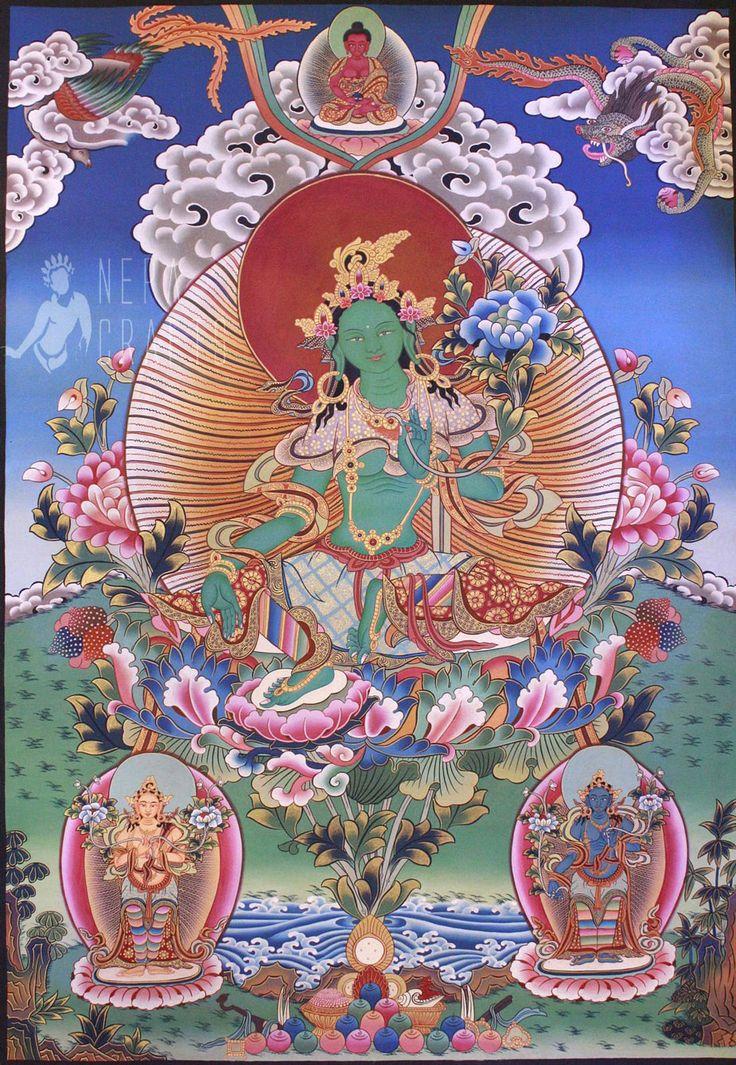 Large Size The Savior Goddess Green Tara (Tibetan Buddhist)