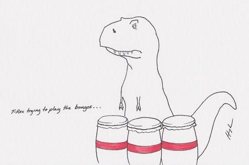 poor dude, he just wants to jam.