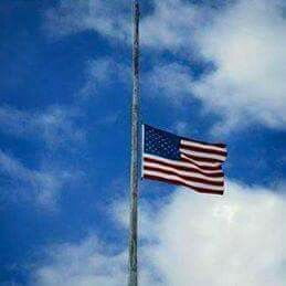 The saddest sight, flag at Half-mast.