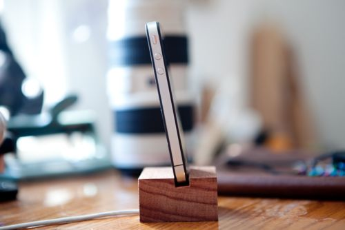 Wooden I Phone Charging Station Product Design