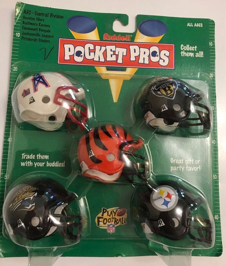 Riddell Pocket Pros AFC Central 1997 Steelers Ravens Oilers Jaguars Bengals  | eBay