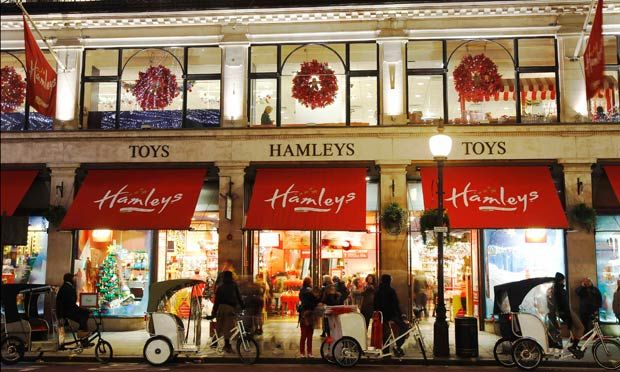Hamleys toy shop at Regent Street in London. 9 best destinations in London for shopping >>> http://bit.ly/1NSII2A