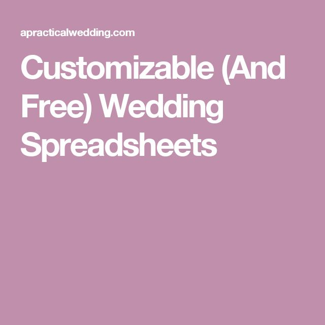 The  Best Wedding Spreadsheet Ideas On   Wedding