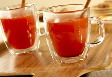 You don't have to wait for a cold winter day to enjoy a festive, fruit juice-infused hot drink.