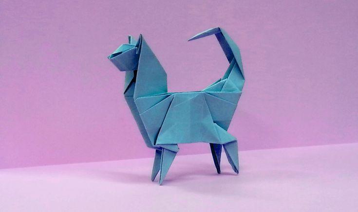 Como fazer um gato Origami
