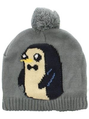 Make sure you're the cutest of them all by adding this adorable grey bobble hat to your wardrobe! It features an image of everyone's favourite penguin Gunter wearing a very stylish bow tie, while the fluffy bobble on the top will guarantee to keep you cosy this winter! An ideal addition for any Adventure Time fanatics. Officially licensed.