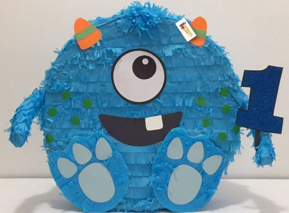 Ready to Ship Monster Pinata First Birthday