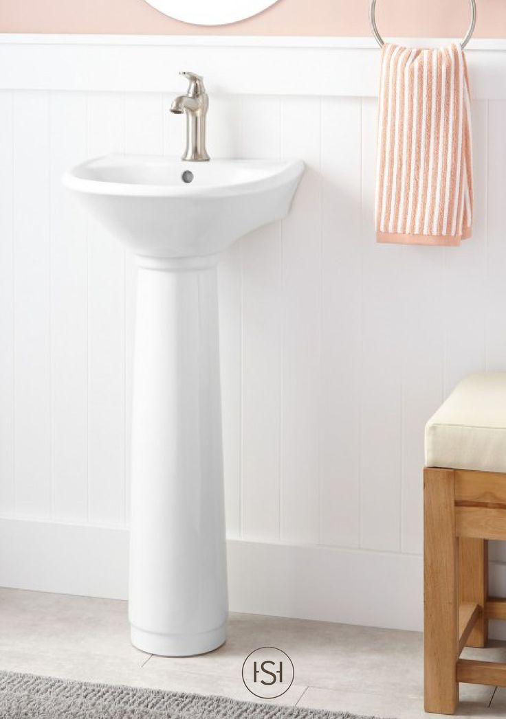 Farnham Porcelain Mini Pedestal Sink Pedestal Half Baths And Minis