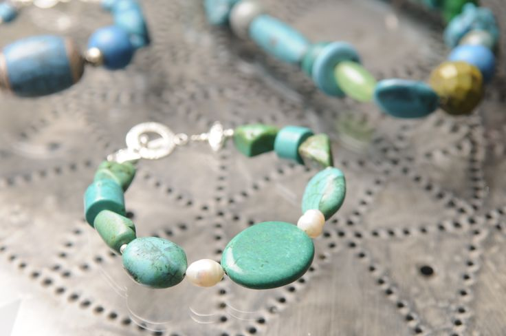Turquoise bracelets by Tinky https://www.facebook.com/TinkySonntag