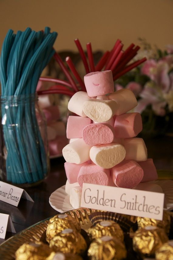 Jasmine and Derek real life wedding on a budget - sweet table ideas for a Harry Potter themed wedding