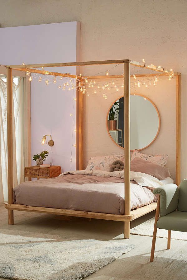 Hygge Home Decor Cozy Diy Projects For Fall Winter Decordiyhome Com Last In 2020 Canopy Bed Frame Wooden Canopy Bed Bed Design