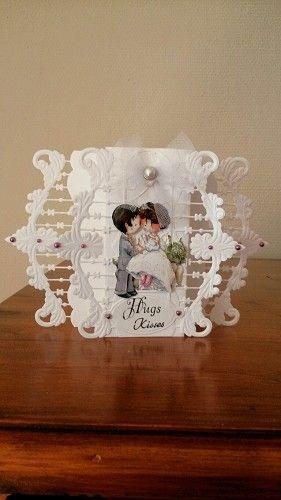 Voorbeeldkaart - huwelijk - Categorie: Stansapparaten - Hobbyjournaal uw hobby website
