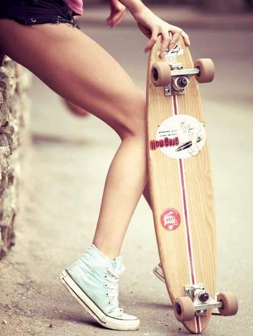 .: Pennies Boards, Baby Blue, Every Girls, Skater Girls, Blue Conver, Skateboard, Longboards, Street Photography, Long Boards