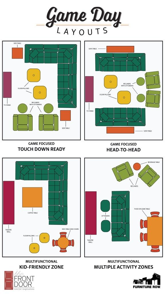Game Day Entertaining Layout Guide The Front Door Blog Game