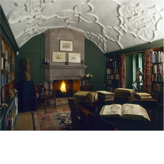 The Secluded Library At Dunderave Castle. It Is Accessible