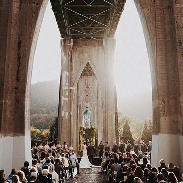 Where? Cathedral Park, Portland  #wedding #ceremony    @dylanmhowell