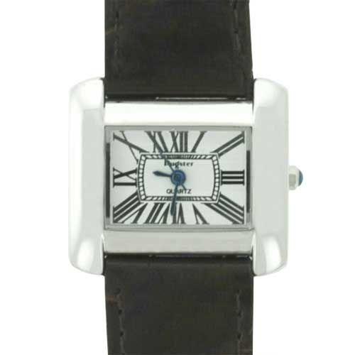 Watches - dark brown band rectangular womens watch Image.