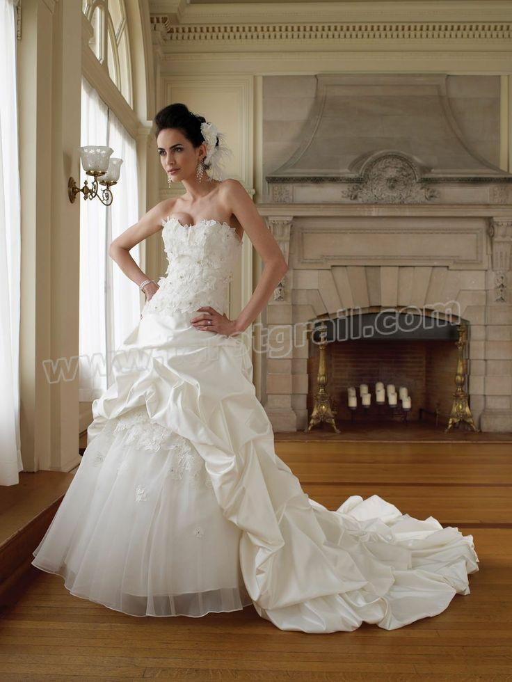 Mejores 156 imágenes de A Line Wedding Dresses en Pinterest ...