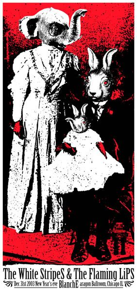 GigPosters.com - White Stripes, The - Flaming Lips - Blanche