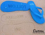 FOLLOW ME - Sand Imprint Flip Flops
