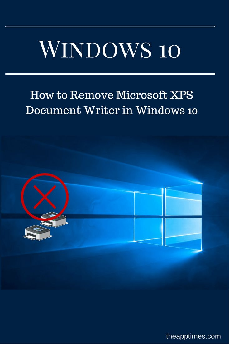 If you don't print to XPS, learn how to remove Microsoft XPS Document writer from the Print dialog in this Windows 10 tutorial. via @theapptimes