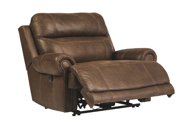 Brown Austere Oversized Power Recliner By Ashley Furniture