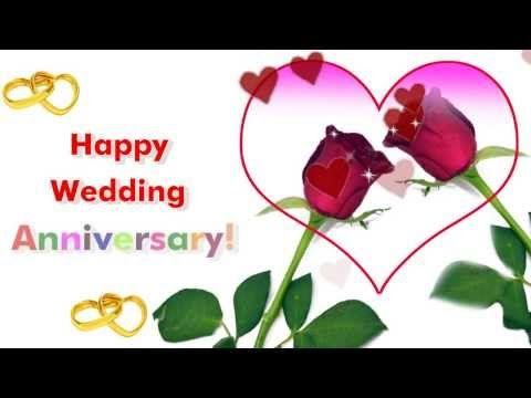 Happy wedding anniversary greetings ecard ! send this beautiful wedding anniversary greeting to your near and dear one.