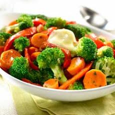 Sauteed Broccoli, Carrots & Bell Peppers Recipe. I added some garlic salt, it was delicious. My new favorite side dish.